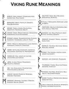 trend Geometric Tattoo – Viking Runes and their meanings Clic… – Norse Mythology-Vikings-Tattoo Norse Runes, Norse Pagan, Norse Mythology, Elder Futhark Runes, Viking Rune Meanings, Rune Symbols, Runes Meaning, Mystic Symbols, Tattoo Symbols