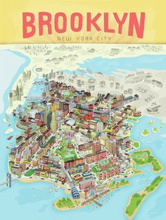 The defining image of Brooklyn is here. Brooklyn Poster by BlankSlate in DUMBO Brooklyn Map, Brooklyn New York, New York City, Brooklyn Brownstone, Orange Beach Alabama, Carroll Gardens, I Love Ny, Map Design, Graphic Design