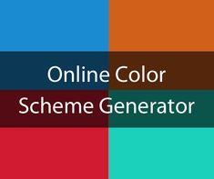 Color Scheme Generator Generates six color schemes based on one selected base color