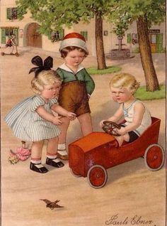 Pauli Ebner (Austrian, 1873-1949) The new wagon