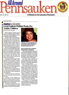 Featured in the print edition of All Around Pennsauken!  See the digital version of this article here: http://allaroundpennsauken.com/local-authors-publish-works-for-adults-children/#.VIq4wHWSz0p