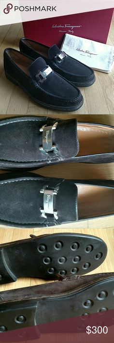 Salvatore Ferragamo Size 11 D Brown Suede Shoes Soles and interior are in good condition, a few minor water and wear spots on suede; over all great condition and ready to wear! Salvatore Ferragamo Shoes Loafers & Slip-Ons