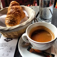 """There is nothing like the solitude of an early breakfast in a Parisian café.Café Delmas atPlace de la Contrescarpe, has quickly become my favorite breakfast place. It smack in the middle of """"Quartier Latin"""", and a stone throw from where I was staying the last couple of times."""