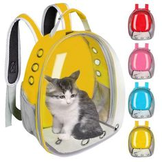 Breathable Pet Cat Carrier Bag Transparent Space Pets Backpack Capsule Bag For Cats Puppy Astronaut Travel Carry Handbag Outdoor - Petnr Puppy Carrier, Pet Carrier Bag, Cat Backpack, Pet Paws, Cat Supplies, Find Pets, Cool Pets, Your Pet, Puppies