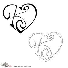 Letter C In Star Tattoo Designs