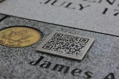 QR code on Grave
