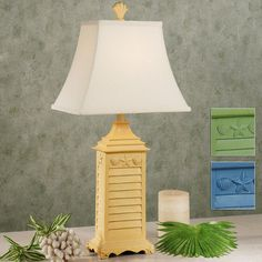 Shell Shutter Table Lamp - similar one at Furniture Warehouse