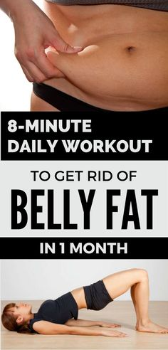 8-Minute Daily Workout to Get Rid of Belly Fat in 1 Month