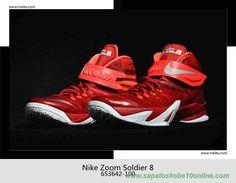 Nike Zoom Soldier 8 Vermelho/Branco 653642-100