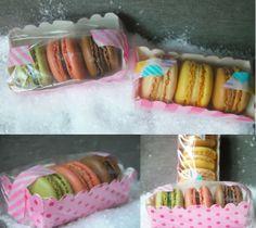 Macaron gift with masking tape