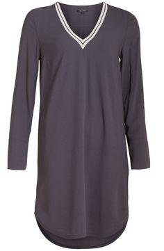 t shirt jurk met split