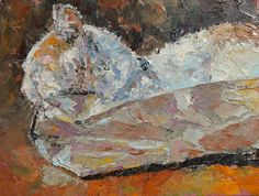 The Bagger  Original Impressionist Oil Painting  by JobsonFineArt