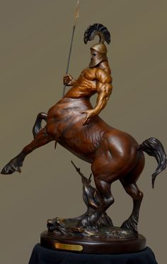 Chiron, the mythological Greek centaur and archer is noted for bravery and transcendence,seekers of wisdom and truth. (sculpture by Jordan Abernethy) Zippertravel.com Digital Edition