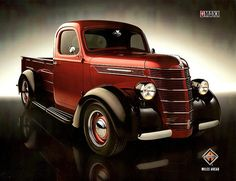 1939 International D-Series Pickup, International based the grill off this truck on there Semi the Lonestar