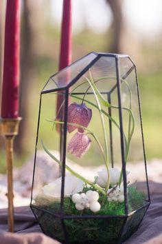 Wildwood Floral Co - boho photo shoot, jennifer soots photography, spring terrarium, wedding decor