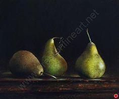 BOSC PEARS by Larry Preston Oil ~ 12 x 14