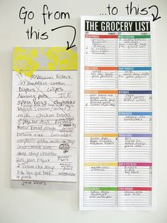These look so awesome!  The Grocery List Notepad (large, magnetic, bright, rainbow, sections, categories, categorized). $10.00, via Etsy.