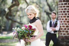 Dramatic, Dark and Romantic Wedding Ideas. Boho Bride