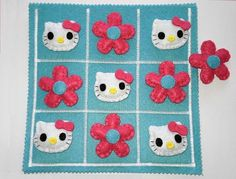 Hello Kitty Tic Tac Toe Game Set ready to ship by twinsandcrafts, $45.00