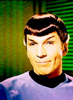 ALL THOSE YEARS AND WE NEVER SAW THOSE GORGEOUS DIMPLES? WHAT THE HELL, RODENBERRY?
