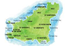 Map of England and France showing Guernsey in the French islands