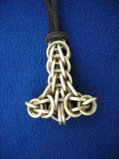Viking Chain Brass Mjolnir Necklace Pendent- Thors Hammer - Large. $45.00, via Etsy. Chainmaille Mjolnir
