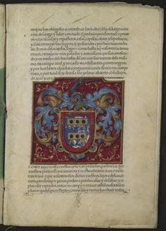 Grant of arms from King Philip II of Spain to Alonso de Mesa and Hernando de Mesa