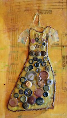 ButtonArtMuseum.com - Button Dress by Jill Dodd Art, $150