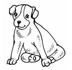 Dibujos para pintar de perros Dibujos para colorear de perritos