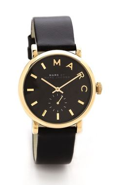 #watch golden black watch by MARC
