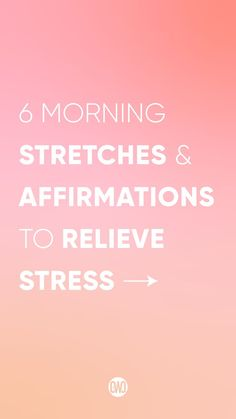 Join me for this 10 minute full body morning stretch to relieve stress and feel great! Repeat these affirmations and watch your confidence grow!! You've got this girl! Morning Stretches, Body Stretches, Walk The Weight Off, Full Body Stretch, Feeling Great, Stress Relief, How To Relieve Stress, Affirmations, Confidence