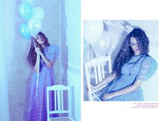 Sleeping beauty fashion shoot: baloons, crown, silver, blue, light  More photos here: http://goodoshina.blogspot.ru