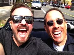 Ricky Gervais and Jerry Seinfeld: | The 45 Most Legendary Pictures Ever Taken