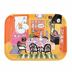 The small tray is made from dishwasher-safe birch wood and is perfect for teatime or afternoon snacks. Moomin Kitchen Small Tray