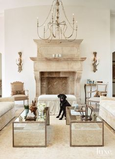 Gorgeous French Country Farmhouse livingneutral and creme tones