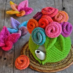 The Queen of the Tea Cosies makes beautiful things to keep tea warm.