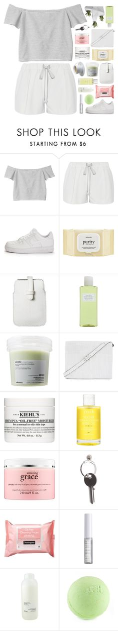 """""""LA LA LOVE ME"""" by feels-like-snow-in-september ❤ liked on Polyvore featuring Monki, Elizabeth and James, NIKE, philosophy, Mossimo, Crabtree & Evelyn, Davines, BCBGMAXAZRIA, Kiehl's and Fresh"""