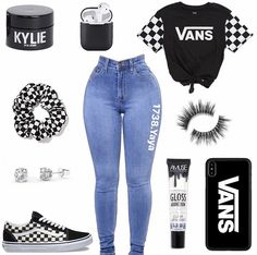 outfits with orange vans Swag Outfits For Girls, Boujee Outfits, Cute Swag Outfits, Teenage Girl Outfits, Cute Comfy Outfits, Cute Outfits For School, Teen Fashion Outfits, Teenager Outfits, Dope Outfits