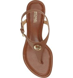 5294c425b72f Michael Kors Ramona Wedge Leather Sandals Luggage Size 7M NIB  MichaelKors   PlatformsWedges Luggage Sizes