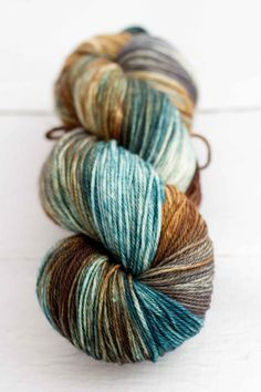 superwash merino sock 'quarry' by westernskyknits on Etsy