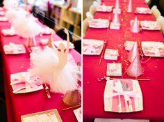 Ballerina tablescape  - how beautiful