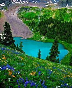 Beautiful Lake San Juans, Colorado - USA