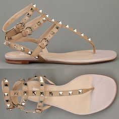 Valentino nude ROCK stud cage sandals! oh YES