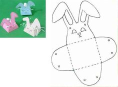 images attach c 11 128 685 Bunny Crafts, Easter Crafts, Easter Art, Easter Bunny, Spring Crafts, Holiday Crafts, Diy And Crafts, Crafts For Kids, Animal Templates