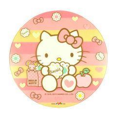 Hello-Kitty-Transparent-Mouse-Pad-Mouse-Mat-Desk-Mat-Dia-8-6-Biscuit-Pink-Sario