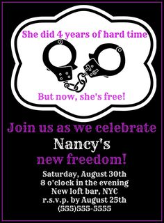 FREEDOM Divorce Party Invitations- Digital Download by NataliesPrintGallery on Etsy