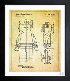 LEGO blueprint poster