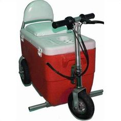 I want one for the 4th of July Party!!!! - Electric Cruzin' Cooler (2 Pieces) Model: 300 Watts, Color: Red