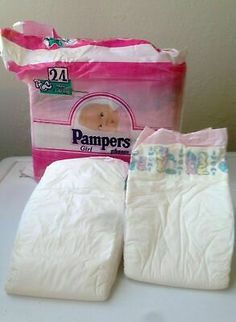 Vintage Pampers Baby-Dry Plus Diaper Sz Mini for Boys Europe Import Reborn