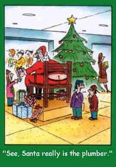 Phoenix, AZ leading commercial plumbing and hydro jet services. Brewer Commercial Services is Arizona's largest commercial plumbing contractor. Christmas Comics, Christmas Humor, Christmas Ideas, Merry Christmas, Diy Projects Gone Wrong, Humor English, Plumbing Humor, Plumbers Crack, Dad Cake